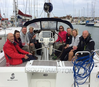 Crew aboard D'Artagnan in Yarmouth
