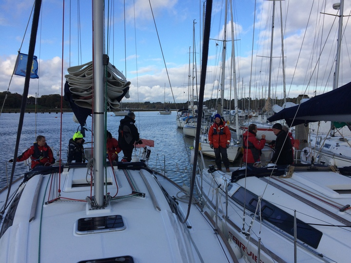 Rafted for lunch stop. Beaulieu River
