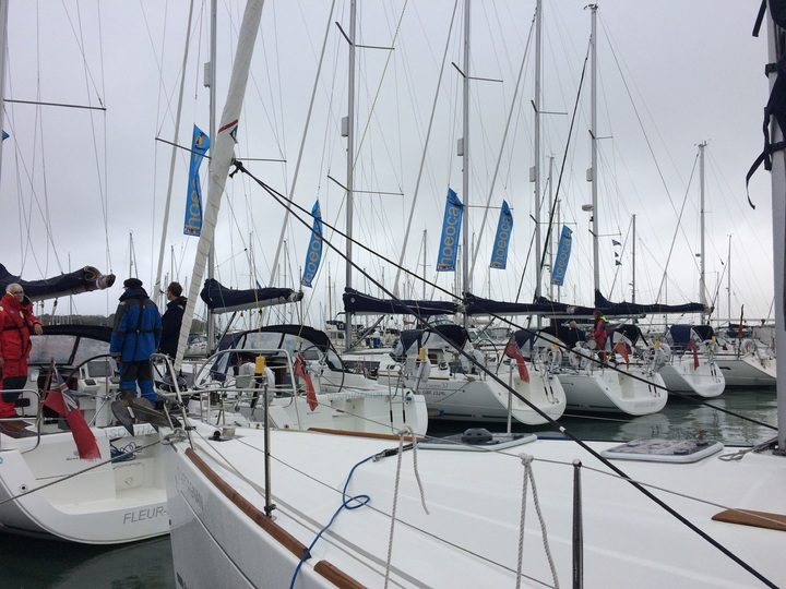 Safely moored in Yarmouth Harbour before the storm