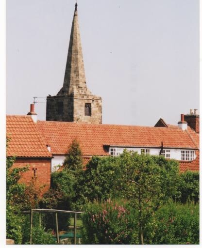 The church spire that survived the fire