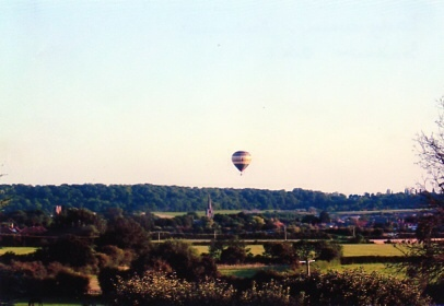 Hot air balloon over the moors