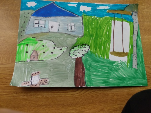 Garden Picture from Toby age 7 (Kirk Hallam)
